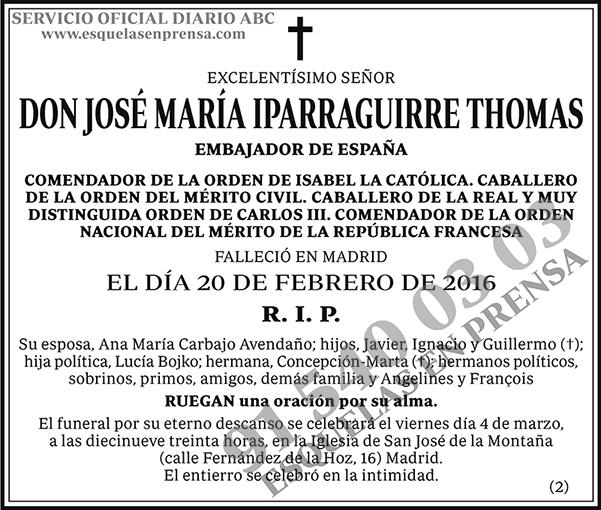 José María Iparraguirre Thomas